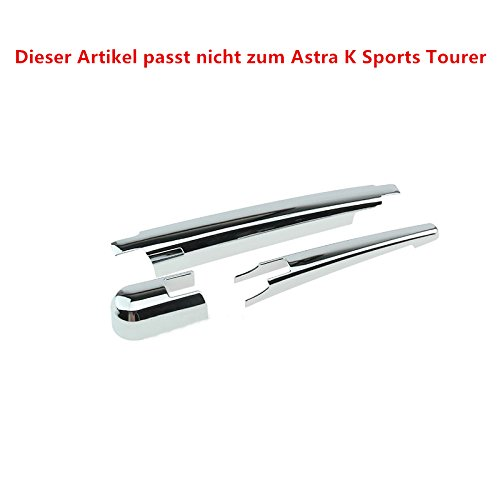 No para Astra Sports Tourer para Astra K 5 puertas 2016-2019 Embellecedor Limpiaparabrisas Cromado 3 piezas Pl/ástico ABS