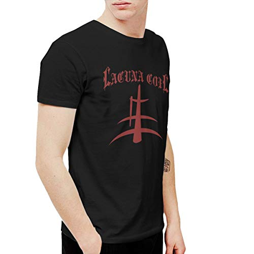 Kangtians HCULXTIBW Lacuna Coil Logo Men's and Women's Fun Short-Sleeved T-Shirt Black 5XL