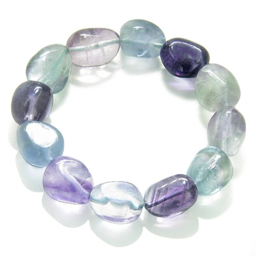 Amulet Tumbled Fluorite Crystals Aura Protection Powers Gemstone (Fluorite Gemstone Bracelet)
