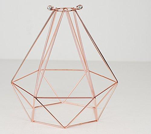 Diamond colgante de jaula de alambre para lámpara de proyección ...