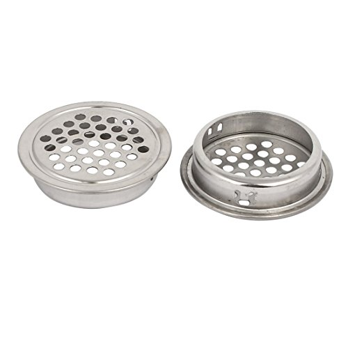 uxcell 35mm Bottom Dia Stainless Steel Round Shaped Mesh Hole Air Vent Louver 30pcs by uxcell (Image #1)