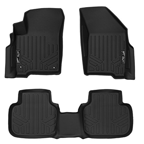 MAX LINER A0198/B0198 MAXFLOORMAT Floor Mats with Dual Hooks Complete Set for Dodge Journey (Black)