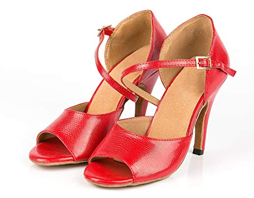 Club Tango Femme Mariage Red de Chaussures Dance Minitoo Seule Sangle Sandales 7q14wf4T0