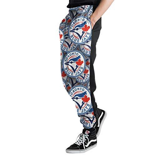 Lovesofun Toron-to Blue Jay-s Men's Casual Jogger Sweatpants Sports Trousers Pant Elastic Waist 3XL ()