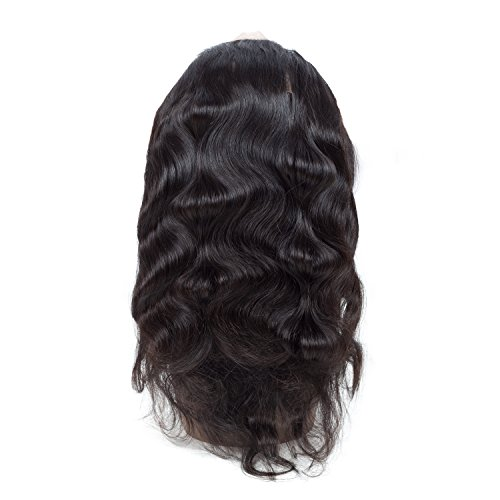Sweetie Hair 7A Grade Brazilian Virgin Human Hair Body Wave 3 Bundles With 360 Full Lace Band Frontals (16 18 20 with 14 inch) Free Part Natural Color by Sweetie Hair (Image #7)