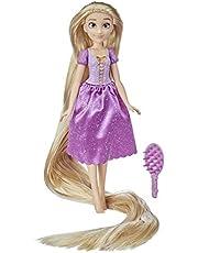 Disney Princess Long Locks Rapunzel, modepop met 45 cm lang blond haar, Disney Rapunzel-prinsesspeelgoed voor meisjes vanaf 3 jaar