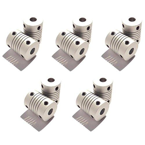 Optimus Electric 10pcs Circular Coupling Hub for 4mm Motor Shafts from