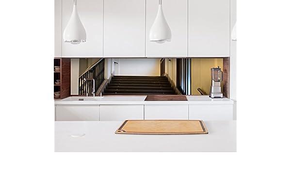 Küche posterior Escaleras de alto rendimiento Piso Puerta adhesiva (pantalla azulejos Muebles pantalla antisalpicaduras 22 a1128, 70cm x 100cm: Amazon.es: Hogar