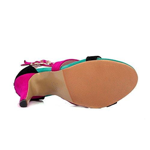 Mujer Negro de hebilla trasera Tacones Sexy cierre correa Peep odetina sandalias cut Toe zapatos out bombas qRAwafqd