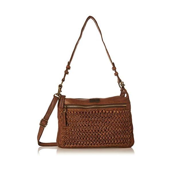 Kompanero Cognac Genuine Leather Shoulder Handbag Bag 1