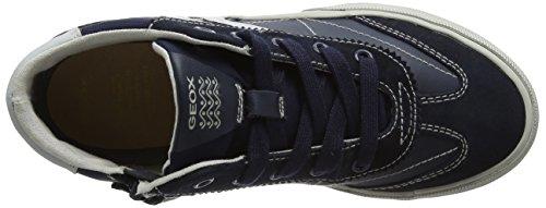 Geox J Alonisso C, Zapatillas Altas Para Niños Azul (Navy/grey)