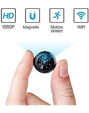 Mini Kamera,FREDI HD 1080P Mini Überwachungskamera Tragbare WLAN WiFi Netzwerk IP Kleine Kamera Bluetooth P2P Drathlos mit Bewegungsmelder Mikrofon Videoaufzeichnung übertragung akku