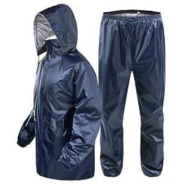 Magic Women's Bike Scooter Waterproof Plain Rain Coat with Bag (Blue, X-Large)