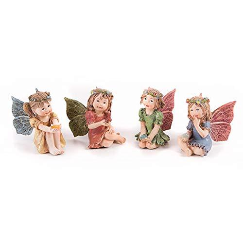Darice Mini Fairy Garden Fairy with Gem, 1.25 x 2 Inches, Style Varies (Small Fairy Figurines)