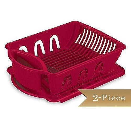 Red Dish Rack Amazon Com
