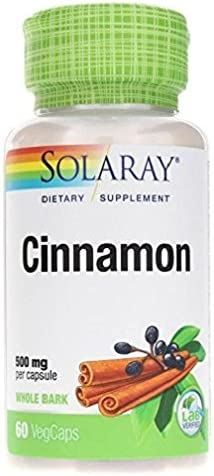 Solaray Cinnamon Bark Capsules, 500 mg, 60 Count