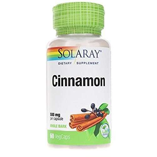 Solaray Cinnamon Bark Capsules, 500 mg, 60 Count For Sale