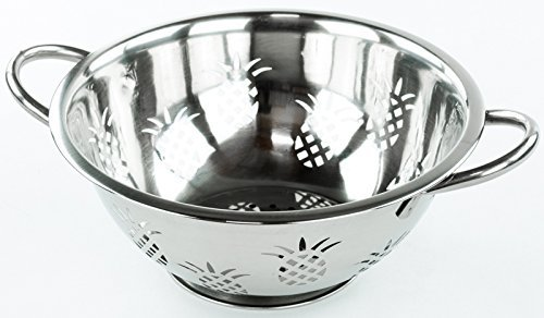 Durable Stainless Steel Pineapple Colander or Strainer (5 Quart)