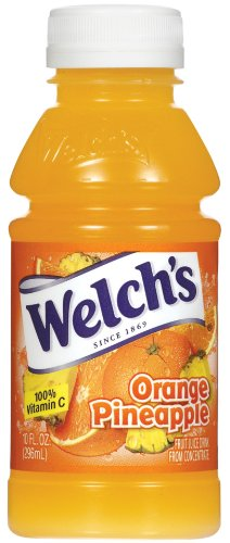 Pineapple Juice Punch - Welch's Orange Pineapple Drink, 10-Ounce Bottles (Pack of 24)