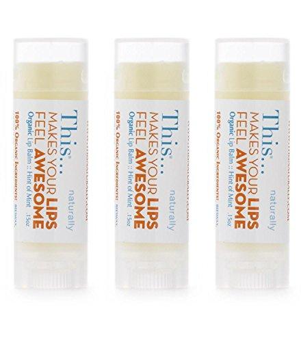 Organic Lip Balm with Jojoba Oil-3-Pack