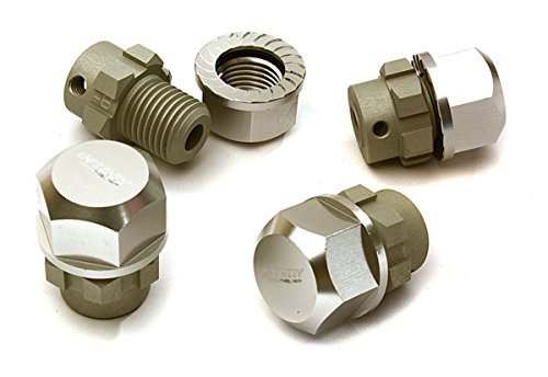 (Integy RC Model Hop-ups C28222SILVER Billet Machined 17mm Wheel Hex (4) +6mm Offset for T-Maxx, 1/10 Revo & Summit)