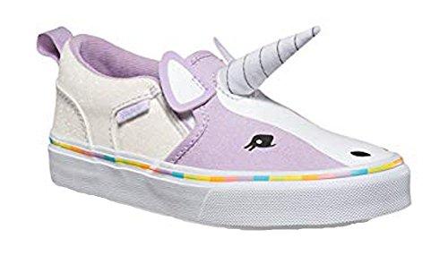 Vans Girls Asher V Purple Unicorn Shoes Sneakers (11) -