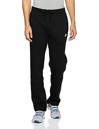 Nike Mens Open Hem Fleece Club Sweatpants Black/White 804395-010 Size Small