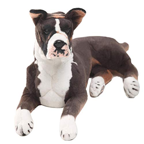 Stuffed Dog Plush dog Pop Animal Boxer Dog Plush Toy Big Stuffed Simulation Pet Dog Doll Gift For Children 31inch -