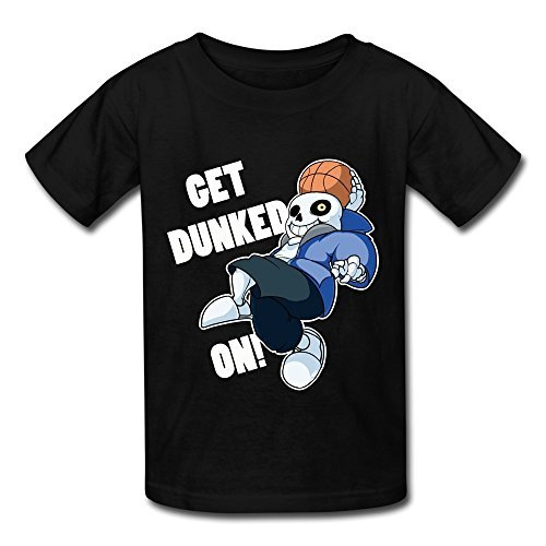 funny-undertale-sans-get-dunked-on-t-shirt-m-black-for-youth