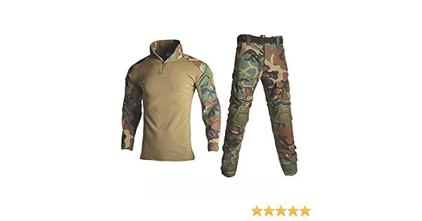 JUNSHIFU Ropa de Caza Camuflaje Trajes de Rana táctica Uniforme Militar Pantalones de Combate Jungle Green XXL: Amazon.es: Ropa y accesorios