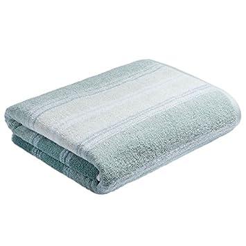 Bianca Ombre rayas 100% algodón - toalla de invitados, color verde: Amazon.es: Hogar
