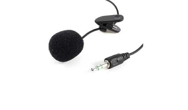 Amazon.com: eDealMax Negro Jack DE 3,5 mm Micrófono Cable DE 1,5 m Para el ordenador portátil del cuaderno: Electronics