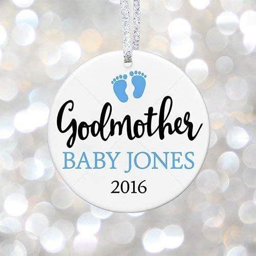 Amazon.com: Personalized Godmother Christmas Ornament ...
