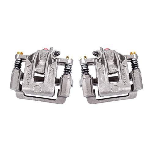 (Callahan CCK04428 [2] REAR Premium Semi-Loaded Original Brake Caliper Pair + Clips [ for 2001-2006 Hyundai Santa Fe ])
