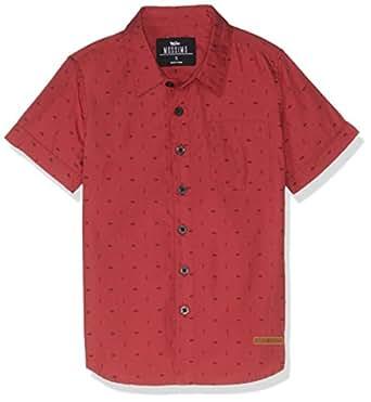 Mossimo Boys' Lamar Short Sleeve Shirt, Brown, 3