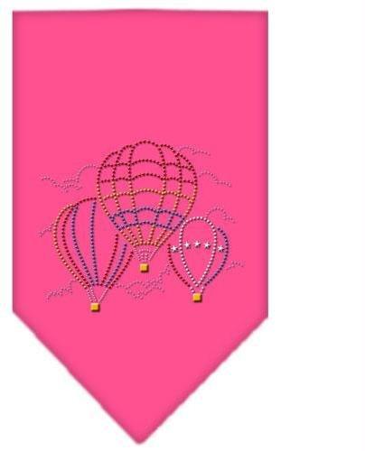Hot Air Ballons Rhinestone Bandana Bright Pink Large Case Pack 24 Hot Air Bal...