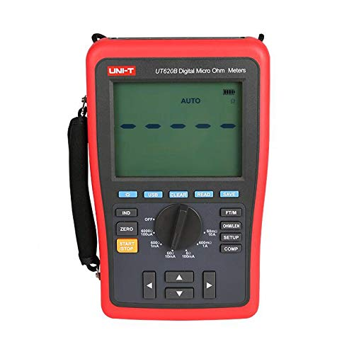 - UT620B DC Digital Micro Ohm Meters Low Resistance Tester Four-Wire Measurement Data Storage USB Transmission Belt backligh