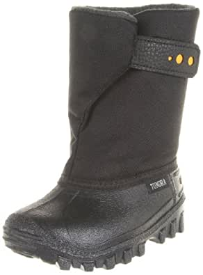 Tundra Teddy Winter Boot (Toddler/Little Kid), Black/Yellow, 4 M US Toddler