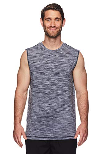 Reebok Men's Muscle Tank Top - Sleeveless Workout & Training Activewear Gym Shirt - Rise Cold Grey, Medium