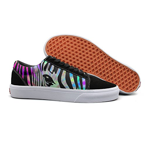 Girls Low Glitter Top Skate Canvas for Women Rainbow Feenfling Shoes Best Zebra Womens Navy Shoes d6qdZ840w