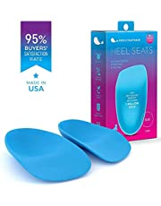 Heel That Pain Heel Seats Foot Orthotic Inserts - Heel Cups Cushions Insoles for Plantar Fasciitis, Heel Spurs, and Heel Pain, Blue (Small, Multiple Sizes Available)
