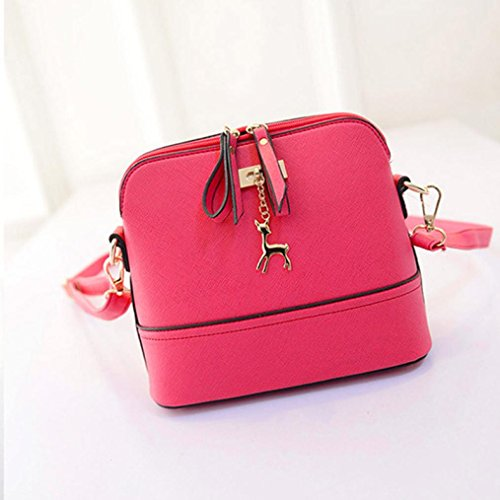CieKen Pink Bag Clearance Pendant Medium with Tassel Deer Lightweight Crossbody Small with U77x4g