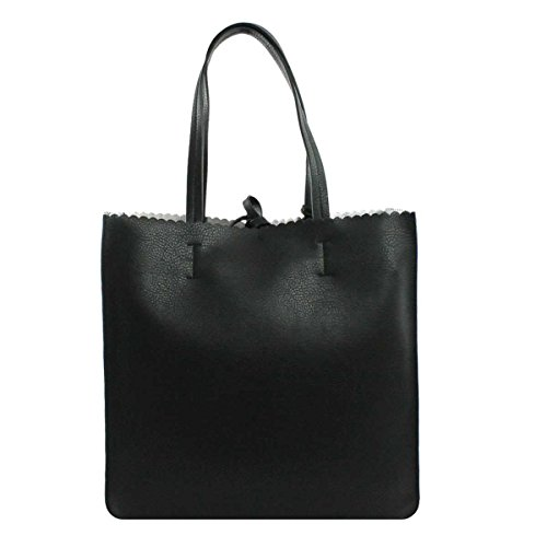 BORSA DONNA POLLINI SHOPPING BAG VERTICALE GRAIN DOUBLE NERO SC4518 118