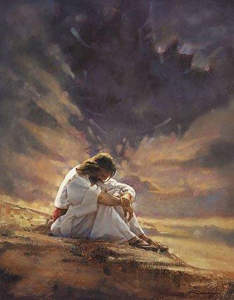 Jesus Art - Ron DiCianni - IN THE WILDERNESS - Jesus Christ CANVAS 9