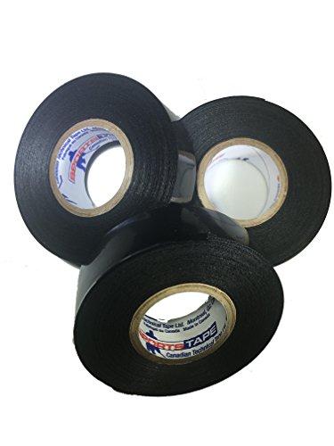 Sports Tape 3 Pack Hockey Shin Guard and Soccer Shin Guard Tape Sock Tape (Black)