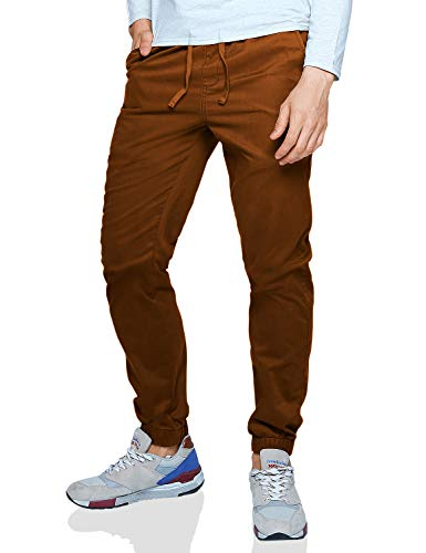 Match Men's Loose Fit Chino Washed Jogger Pant (40, 6059 Tan) ()