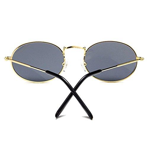 métal femmes la Gris mode ovales classiques soleil en des Lunettes Retro à de wSfqAA