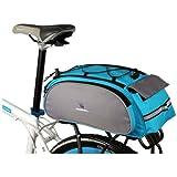 ROSWHEEL ロスホイール サイクル 多機能 自転車リアキャリア取付用 リアバック 13L (青)