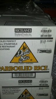 Delta Star: Parboiled Rice 50 Lb. Cube by DELTA STAR