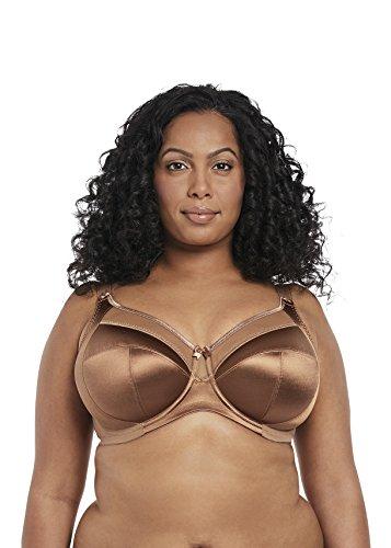 Goddess Women's Plus-Size Keira Underwire Banded Bra Bra, Cinnamon, 34N